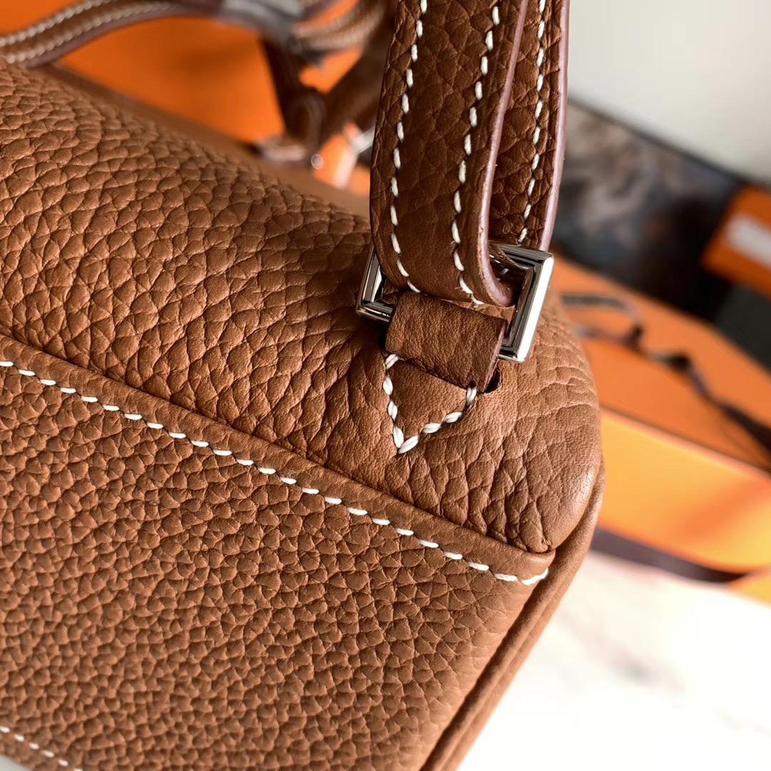 Hermes 全手缝 凯莉双肩包 背包 Kelly Ado   原厂TC皮 全手缝 GOLD色 浅咖啡 金扣