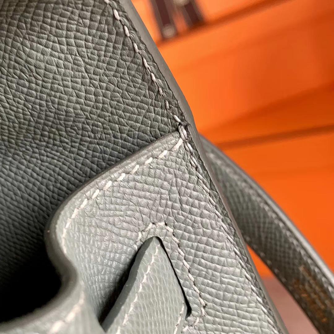 Hermes Kelly 凯莉包 28cm 原厂Epsom  杏绿色 杏仁绿 63 Vert Amande