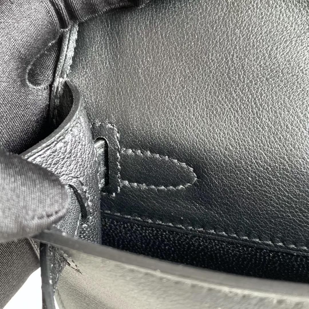 Hermes 凯莉Kelly Cut 手拿包 晚宴包   原厂Swift 银扣 黑色 Nior 全套包装