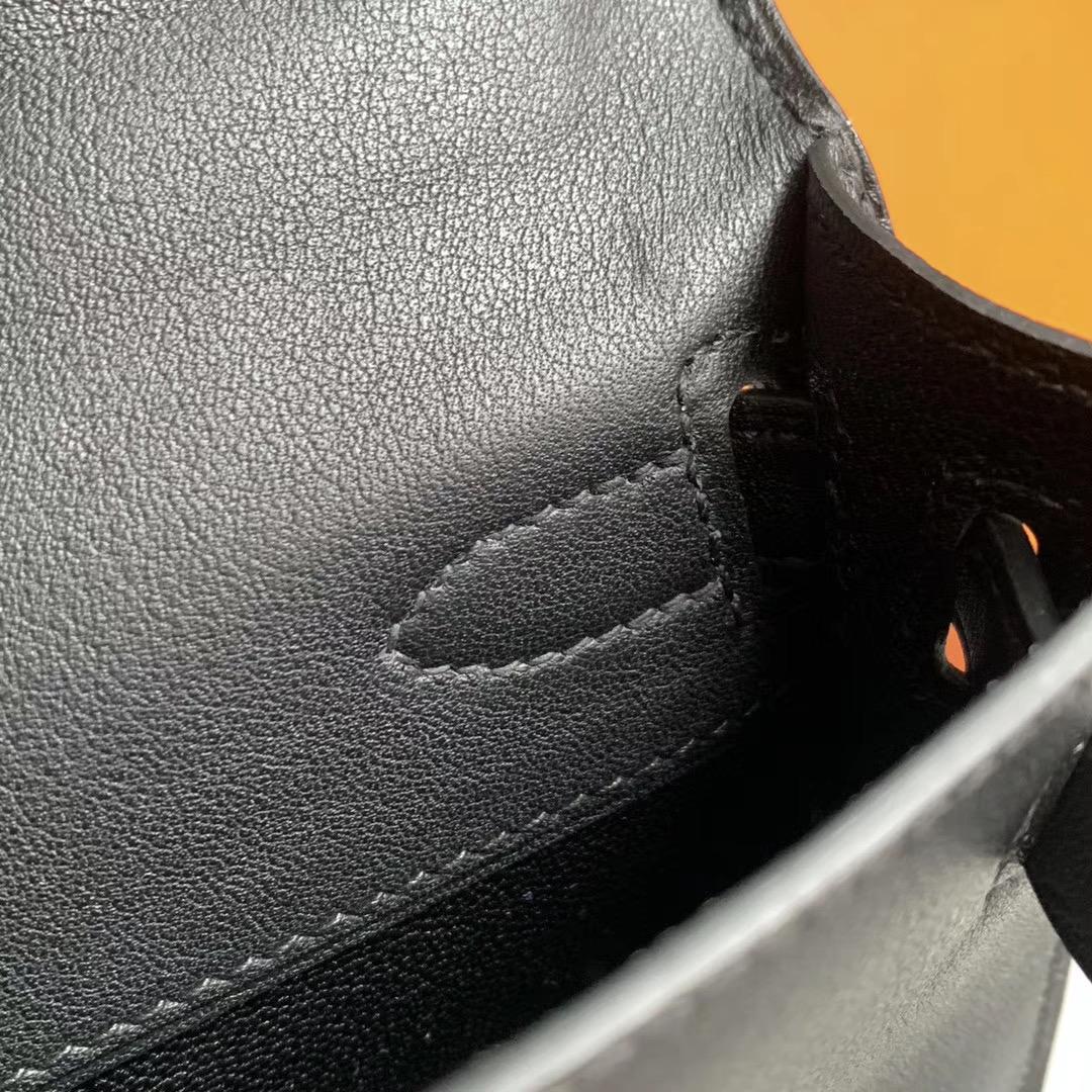 Hermes 凯莉Kelly Cut 手拿包 晚宴包   原厂Swift 金扣 黑色 Nior 全套包装