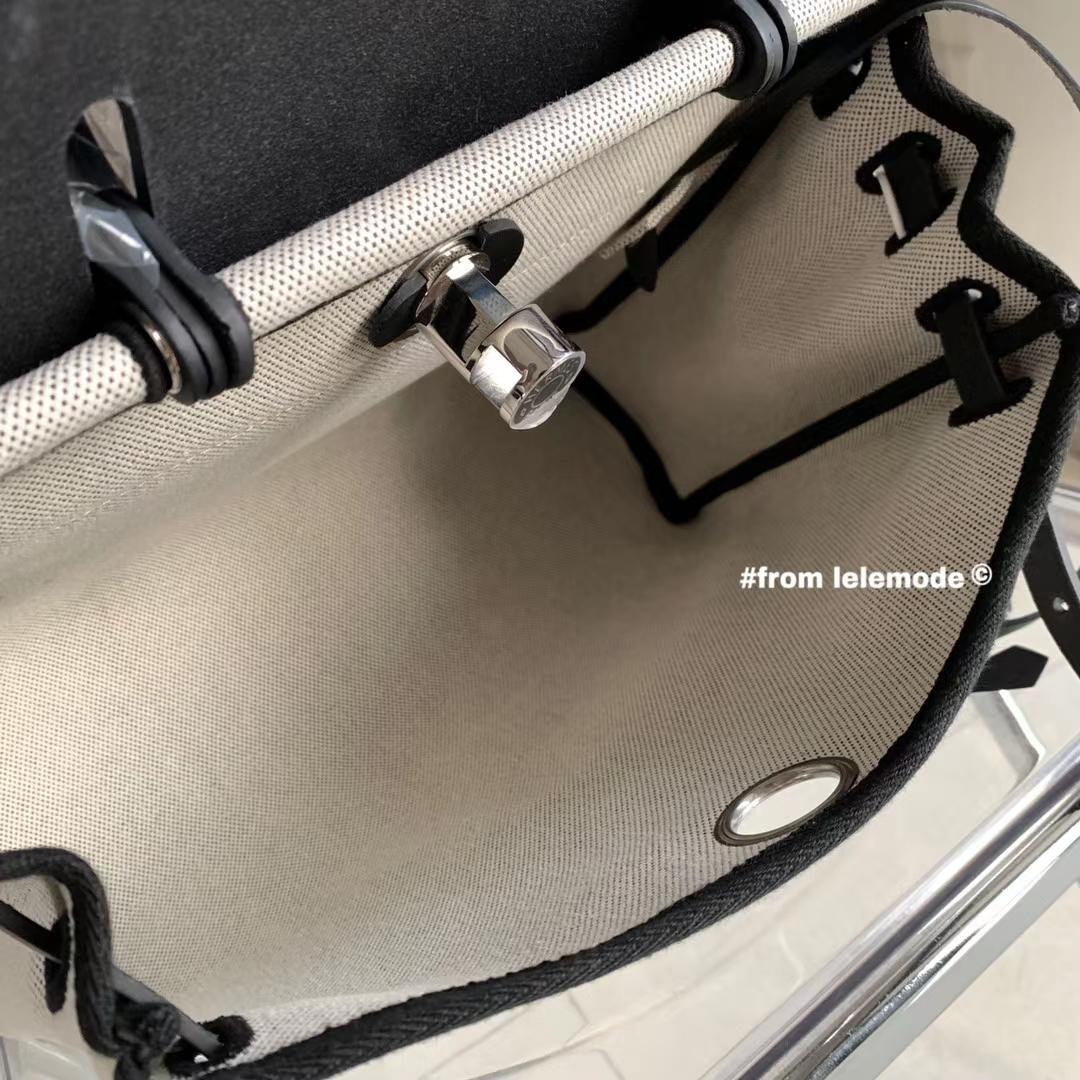Hermès(爱马仕)Hunter leather 拼帆布 飞马 Herbag 31cm