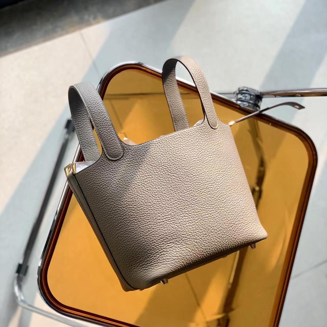 Hermès(爱马仕)Picotin Lock 菜篮子 18cm 大象灰 CK18 原厂TC皮