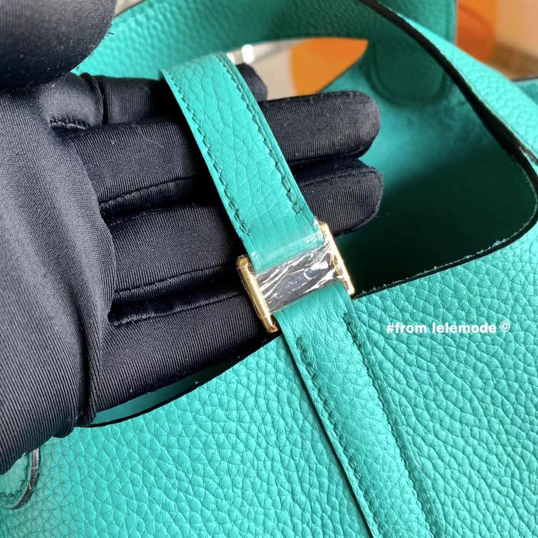 Hermès(爱马仕)Picotin 菜篮子 U1 维罗纳绿 原厂TC皮 18cm 全手缝
