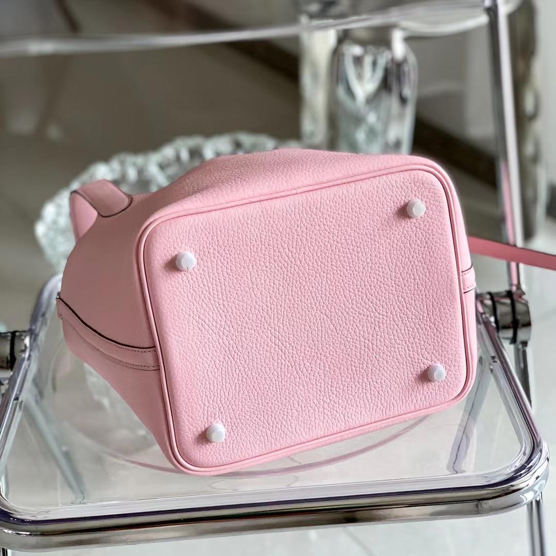 Hermès(爱马仕)Picotin Lock 菜篮子 全手缝 新樱花粉 色号3Q 原厂TC皮 22cm