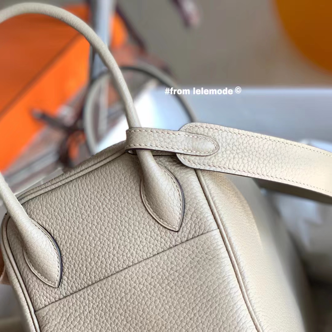 Hermès(爱马仕)Lindy 琳迪包 斑鸠灰 CC81 金扣 26cm 全手缝