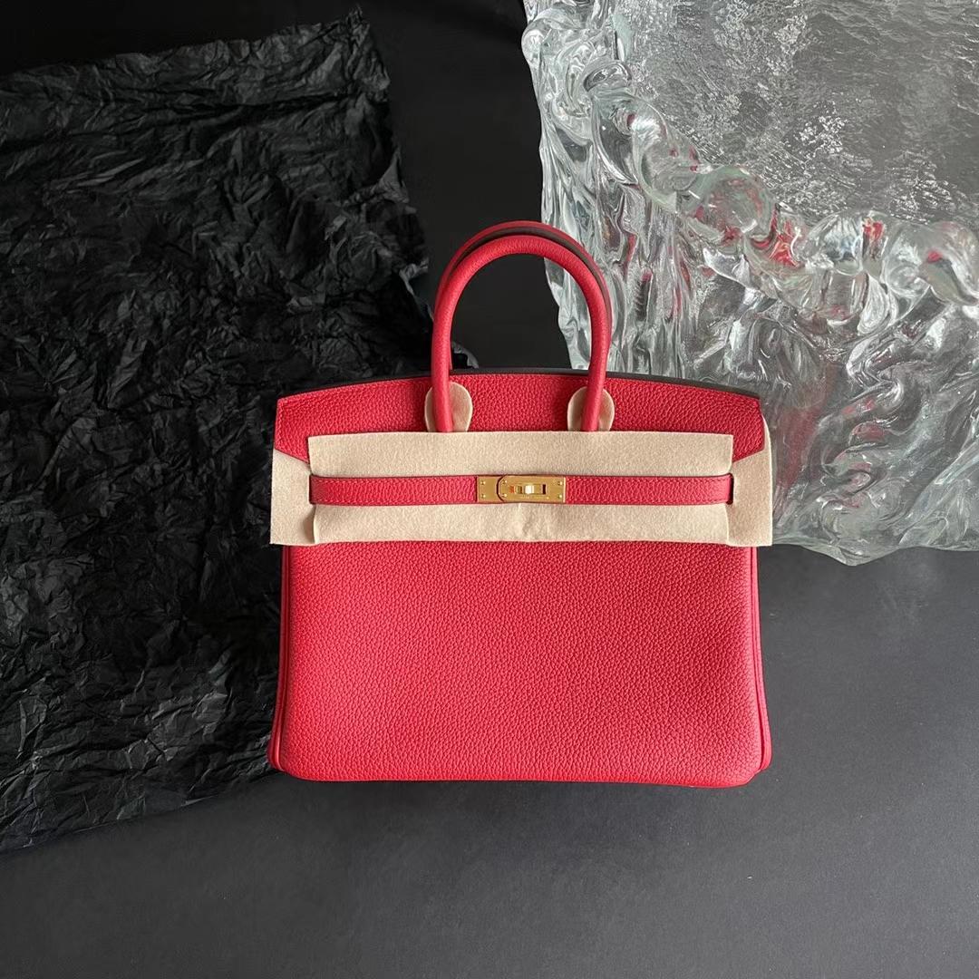 Hermès(爱马仕)Birkin 铂金包 中国红 Q5 原厂Togo皮 金扣 25cm