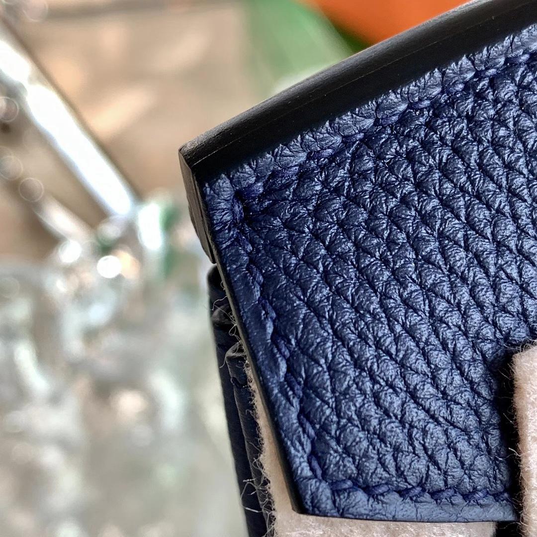 Hermès(爱马仕)Birkin 铂金包 全手缝 午夜蓝 2Z 配 玫瑰金扣 原厂Togo皮 25cm